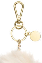 Keyring - Natural white -  | H&M 2